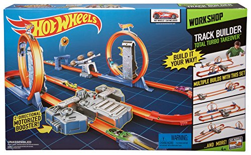 Hot Wheels Track Builder Total Turbo Takeover Track Set [Amazon Exclusive] ()