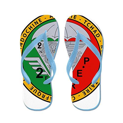 CafePress 2Nd eme Rep - FFL - Flip Flops, Funny Thong Sandals, Beach Sandals Caribbean Blue