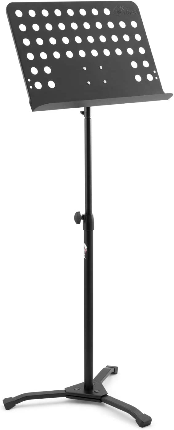 Fully Adjustable Orchestral Music Stand MUS35-BK Tiger Wooden Sheet Music Stand