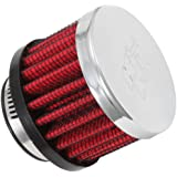 K&N 62-1370 Vent Air Filter / Breather: Vent Air Filter/ Breather; 1 in (25 mm) Flange ID; 1.5 in (38 mm) Height; 2 in (51 mm) Base; 2 in (51 mm) Top
