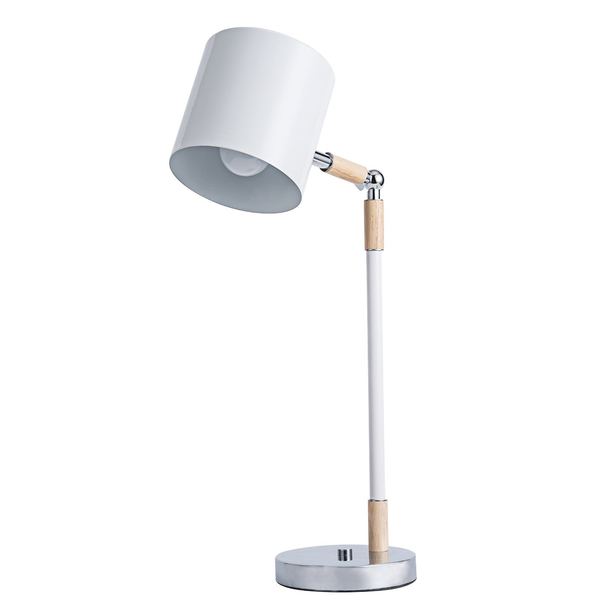 Lai Deng LED Table lamp Adjustable Metal Shade with Bedside Lamps Touch Control Table lamp White