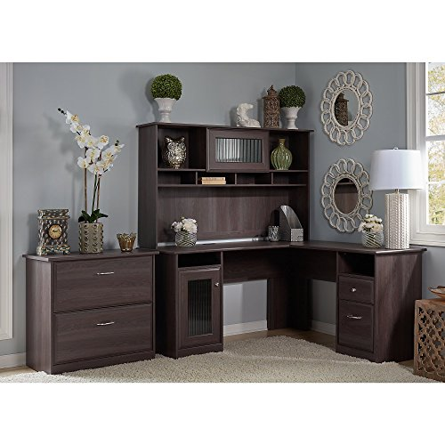 Cabot Shaped Hutch Lateral Cabinet