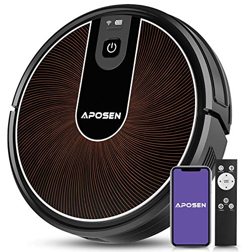Robot Vacuum, APOSEN Smart WiFi Floor Vacuum Robot Cleaner, 2200Pa Strong Suction, Super Thin Quiet, Automatic Robot Vacuum with Mapping Technology and Self Charging, Compatible with Alexa