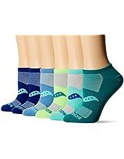 Saucony Women's 6-Pack Arch Stripe Performance No Show Socks