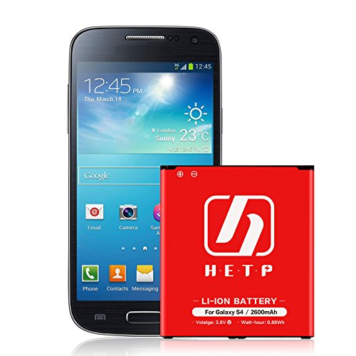 Galaxy S4 Battery HETP (2,600 mAh) Replacement Li-Ion Battery for the Galaxy S4 [I9500, I9505 LTE, I545 (Verizon), M919 (Tmobile), I337 (AT&T), L720 (Sprint)] | S4 Spare Battery -18 Month Warranty