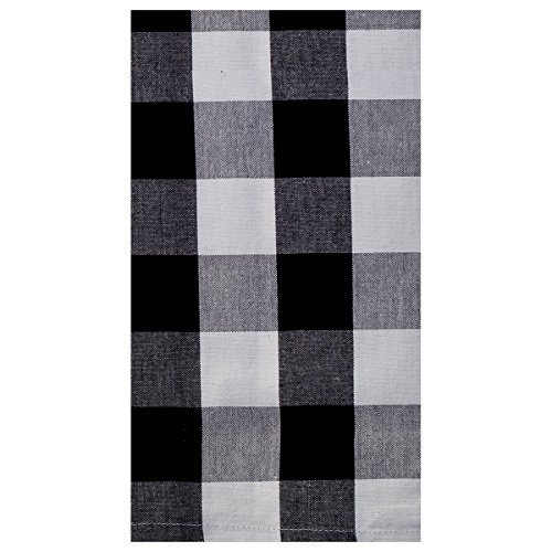 C&F Home Franklin Buffalo Check Gingham Plaid Woven Black and White Cotton Kitchen Towel Kitchen Towel Black & ()