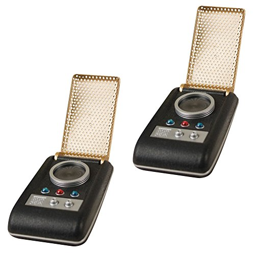 (Set Of 2) Star Trek Communicators Light And Sound Mini Palm Sized Devices (Star Trek Replicas)