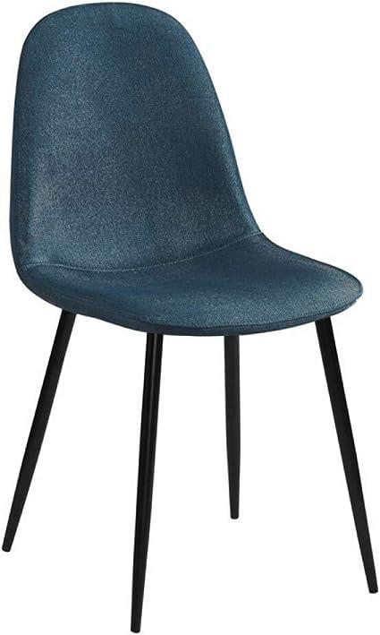 Zons Stockholm Sedia Scandinava In Tessuto Colore Blu Petrolio E Nero Amazon It Casa E Cucina