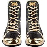 Venum Elite Boxing Shoes - Black/Gold - Size 9