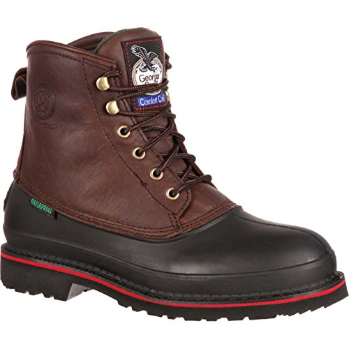 Toe Steel Mud Dog - Georgia Boot Men's Muddog Waterproof Steel Toe Work Boots, Dark Chocolate, 12 M US