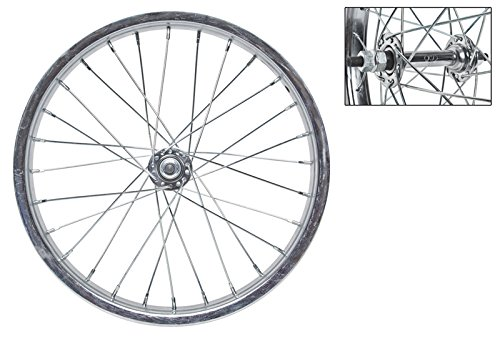 WheelMaster 16 x 1.75 Front Bicycle Wheel, 28H, Steel, Bolt On, Silver ()
