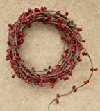 Red Single Ply Pip Berry Garland 18' Country Primitive Floral Craft Décor