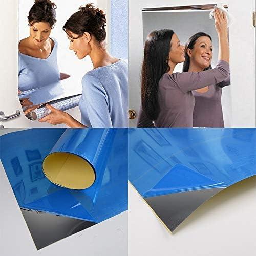 Jackallo Adesivo da Parete Specchio Adesivi per Specchio Riflettente Adesivo da Parete Specchio Autoadesivo Soggiorno Adesivi per Specchio Riflettente per La Casa Soggiorno Arredamento Ufficio