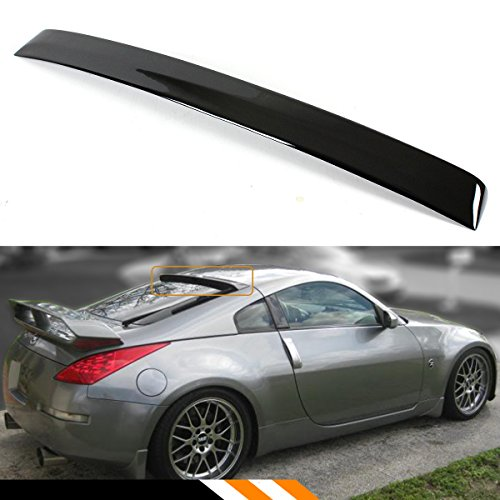 Cuztom Tuning FOR 2003-2008 NISSAN 350Z Z33 JDM PAINTED GLOSSY BLACK REAR WINDOW ROOF SPOILER WING ()