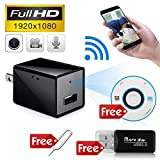 Minicute Hidden Concealed Spy Camera 1080P HD USB Wall Charger Nanny Spy Camera Adapter with 32GB Internal Memory Video Recorder Updated Instruction
