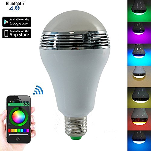 Ideapro bluetooth led music bulb color changing standard for Led light bulb with built in bluetooth speaker