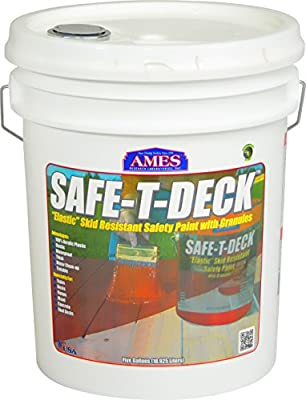 AMES RESEARCH LABORATORIES SD5TW Water Base High Strength Elastomeric Deck & Floor Coating, 5 gallon White