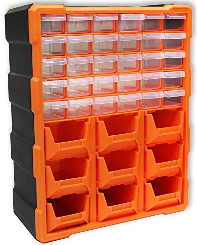 18-1/2 X 15 X 6-1/4 Inch Deluxe Storage Unit With Drawers And Bins For Small Items - Medium Deluxe Storage Unit