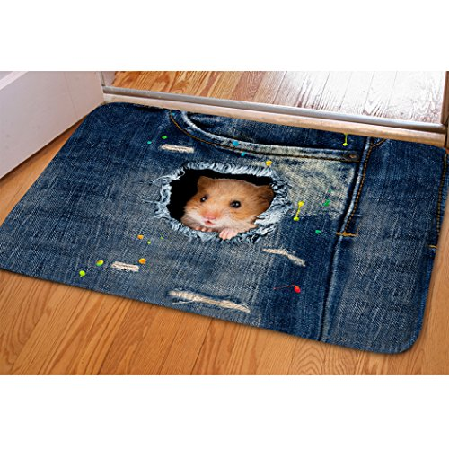 Velvet Hot Tub - Cute Hamster Welcome Mat For Indoor Bedroom Dorm Dollhouse Floral Funny Cat Door Mat Fast Dry Absorbent Hot Tub Bathroom Small Carpet Easy Clean Dirt Trapper Kitchen Hallway Floor Mat Entrance Doormat