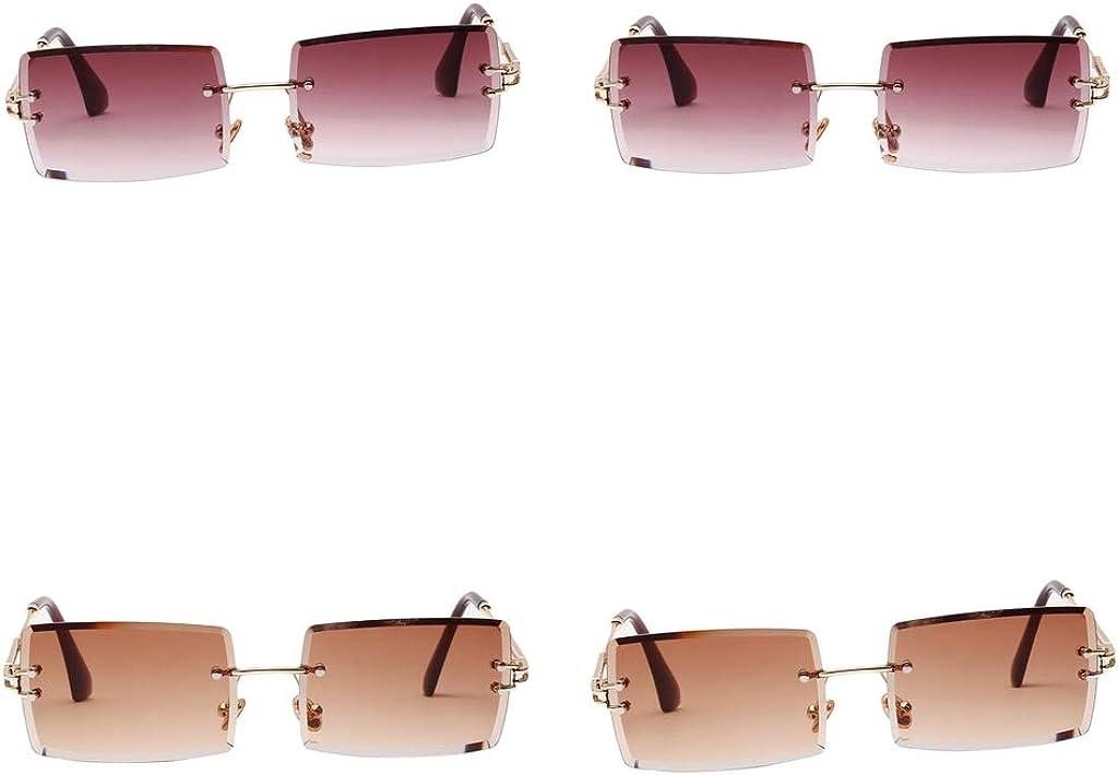 Damen Sonnenbrillen Rectangle Brille Moderne Eyewear mit UV-400 Schutz Klare
