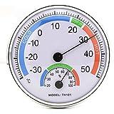 Hrph TH101E Thermo-Hygromètre Haute Précision Systeme Combiné Thermomètre Hygromètre Analogique Bimétallique pour Intérieur ou Extérieur