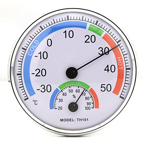 Indoor Outdoor Round Shape Thermometer Temperature Garden Hygrometer Comfortable Tester Weather Humidity Meters