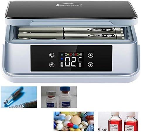 JL Medizin Kühlschrank Cooler Drug Reefer 2-18 ° C LCD-Anzeige für Medikamente, Zuhause, Auto, Reisen, Camping