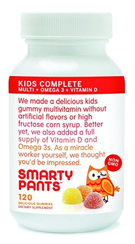 SmartyPants Vitamins Gummy Vitamins with Omega 3 Fish Oil and Vitamin D - 480 Gummies New Mega Size Package- by SmartyPants Gummy Vitamins