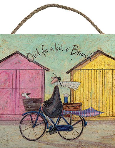 Sam Toft Wooden Wall Art, Multi-Colour, 20 x 20 cm The Art Group EMB10803
