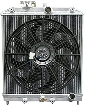 "RACING 3 ROW TRIPLE CORE ALUMINUM RADIATOR 12/"" SLIM FAN FOR 92-95 HONDA CIVIC EG"