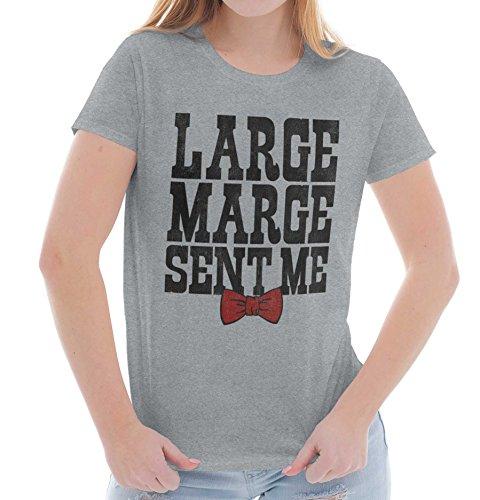 Brisco Brands Large Marge Sent | Pee Wee Big Adventure Peewee Herman Retro Ladies T Shirt