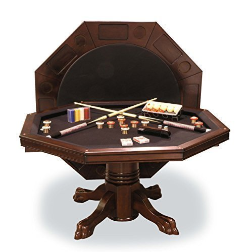 Dining Room Mahogany Game Table (Combination 3-in-1 Game/Dining Table in Mahogany finish)