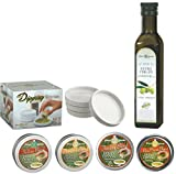Dean Jacob's 9 pc. Collection with 4 Bread Dipping Tins, Saucers & Cold Pressed Olive Oil