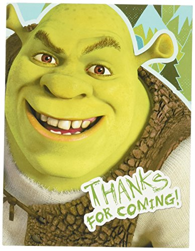 Hallmark Shrek Forever After Thank-You Notes (8) Party Supplies