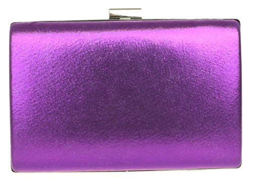 Wedding HandBags Bag Hard Case Purple Girly Satin Encrusted Diamante Handbag Luxury Shimmer Clutch Evening Party 4dqqwT7