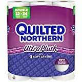 Quilted Northern  Ultra Plush Toilet Paper, Pack of 12 Double Rolls, Equivalent to 24 Regular Rolls--Packaging May Vary