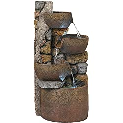 "Ashmill Rustic Urn 29"" High Fountain"