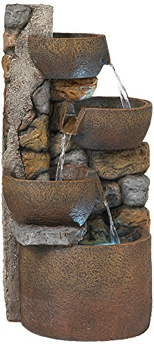 Outdoor Lighted Garden Fountains - 8