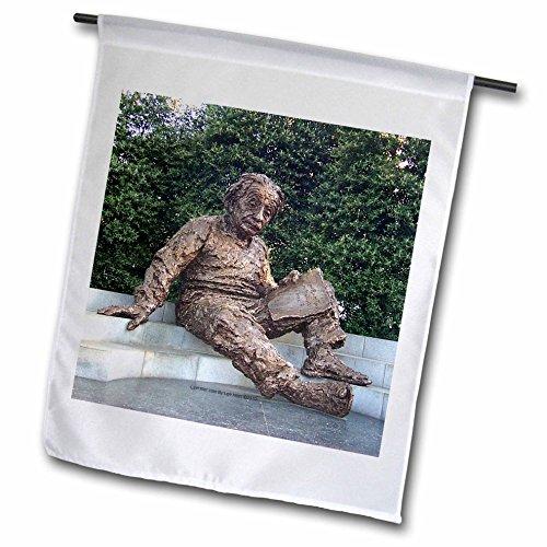 3dRose Lee Hiller Photography Washington DC - Albert Einstein Memorial - 12 x 18 inch Garden Flag (fl_5014_1)