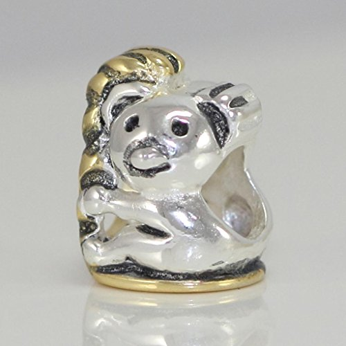 Sterling Silver Charm Koala Charm Animal Charm Cute Bear Bead for European Charm Bracelets #EC377