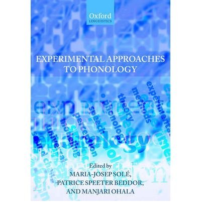 [(Experimental Approaches to Phonology)] [Author: Maria-Josep Sole] published on (September, 2007) pdf