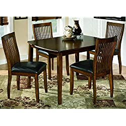 Ashley Furniture Signature Design - Stuman Dining Room Set - 1 Table and 4 Chairs - Contemporary - Set of 5 - Medium Brown