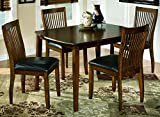 Dining Room Tables Ashley Furniture Signature Design - Stuman Dining Room Set - 1 Table and 4 Chairs - Contemporary - Set of 5 - Medium Brown