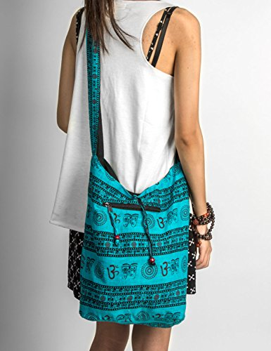 Bag Hippie Boho Unique Large Handmade Crossbody Patchwork Fashion Shoulder Blue Hobo Everyday x1qBZApnw