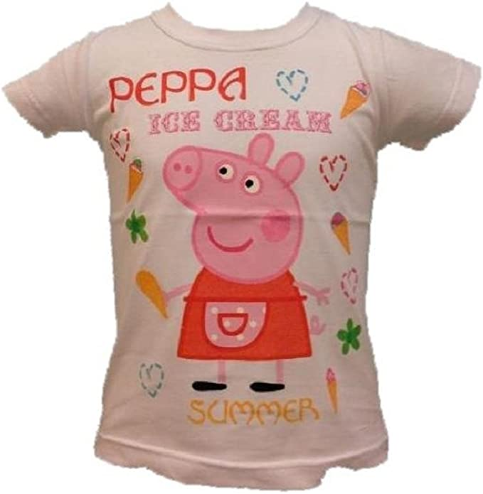 Peppa Pig Maglietta a Maniche Corte in Cotone