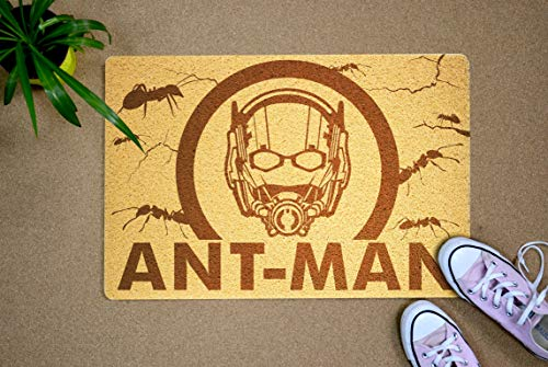 Gifts and Crafts Store Ant Man Marvel Comics Superhero 24x16 inch Welcome Mat Outdoor Indoor Original Rubber Doormat Birthday Holiday Halloween for Men Son Boyfriend Children]()