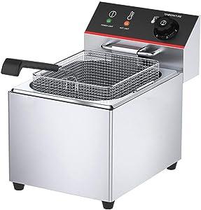 Electric Fryer, Commercial Desktop Fryer, 8L/12L/15L Stainless Steel French Fries With Basket Restaurant Home Kitchen, Maximum 220-240V / 3.25KW 0925 (Size : TEF-15L)
