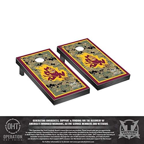 Victory Tailgate Operation Hat Trick Arizona State ASU Sun Devils Desktop Cornhole Game Set Border Version (Sun Devils Desk)