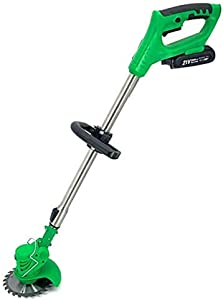 ECUTEE Portable Electric Cordless String Trimmer & Wheeled Edger, Handheld Trimmer, Grass Shear Electric, Lawn Trimmer, Garden Mower, Trimmer Cutter, Perfect for Leaves & Debris,21V