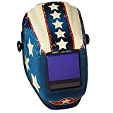 Jackson Safety TrueSight II Digital Auto Darkening Welding Helmet with Balder Technology (46118), HLX, ADF, Stars & Scars Graphic